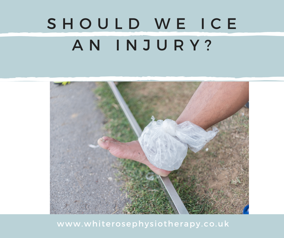 Should we ice an injury?